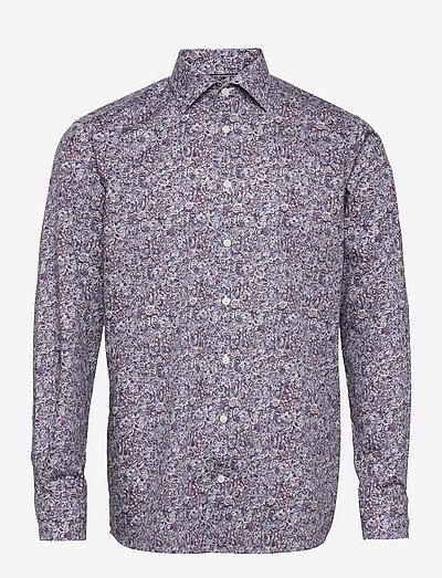 Men's shirt: Business  Signature twill - chemises de lin - red