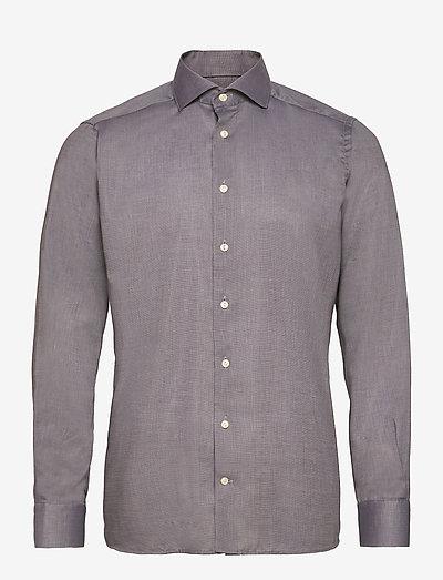 Men's shirt: Business  Lightweight Flannel - chemises de lin - mid grey