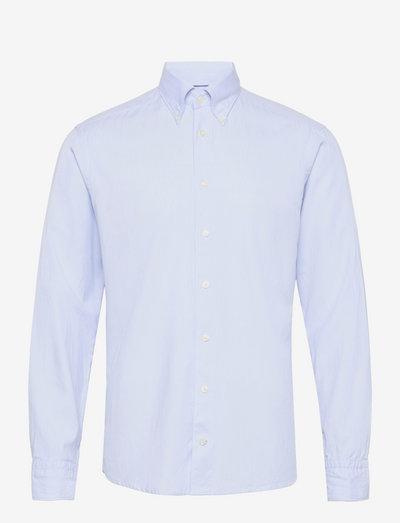 Men's shirt: Casual  Cotton Tencel - chemises de lin - light blue