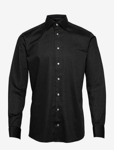 Men's shirt: Business  Twill stretch - chemises oxford  use default - black