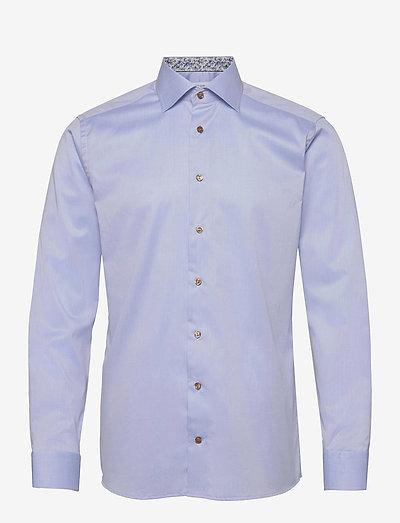 Slim Fit Signature twill shirt - daisy details - oxford-paidat - blue