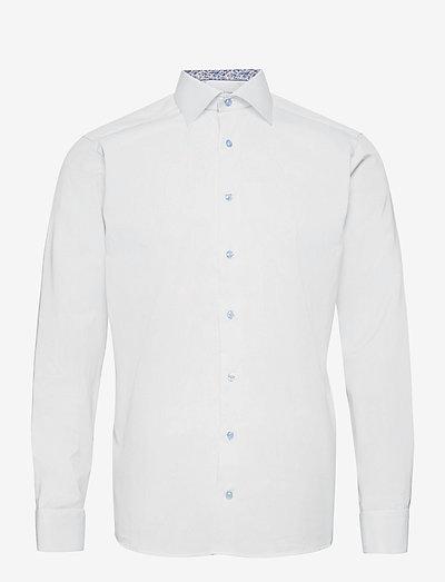 Slim Fit Signature twill shirt - daisy details - oxford-paidat - white