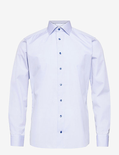 Slim Fit Eton Poplin shirt - oxford-paidat - blue