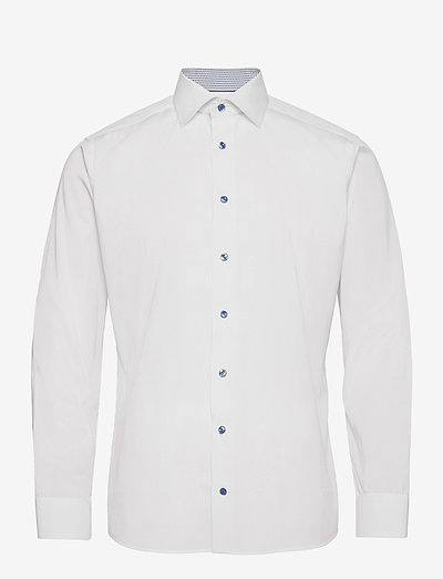 Slim Fit Eton Poplin shirt - oxford shirts - white