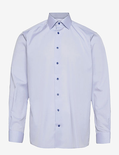 Contemporary Fit Eton poplin shirt - oxford-paidat - blue