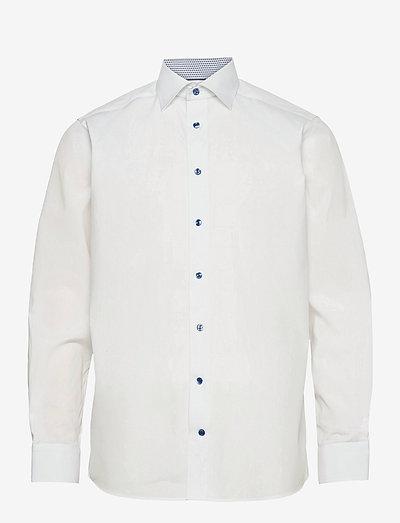 Contemporary Fit Eton poplin shirt - oxford-paidat - white