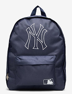 NY YANKEES navy backpack, with white logo outline - backpacks - navy