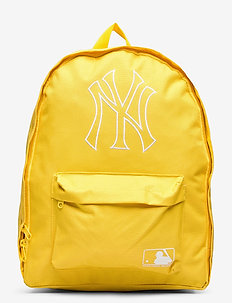 NY YANKEES yellow with stitched whit outlined logo - backpacks - yellow