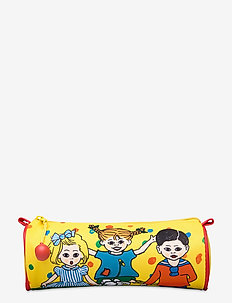 PIPPI round pencil case - pennfodral - yellow