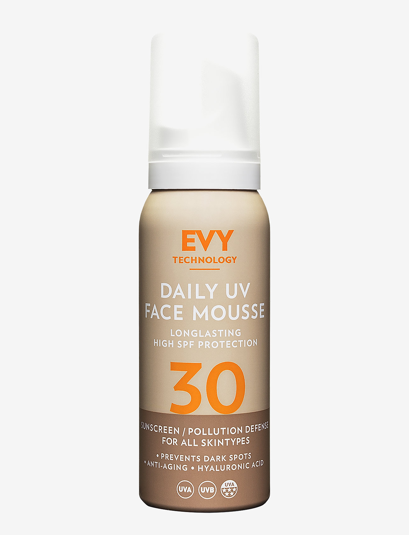 EVY Technology - Daily UV Face Mousse SPF 30 - aurinkotuotteet - no colour - 0