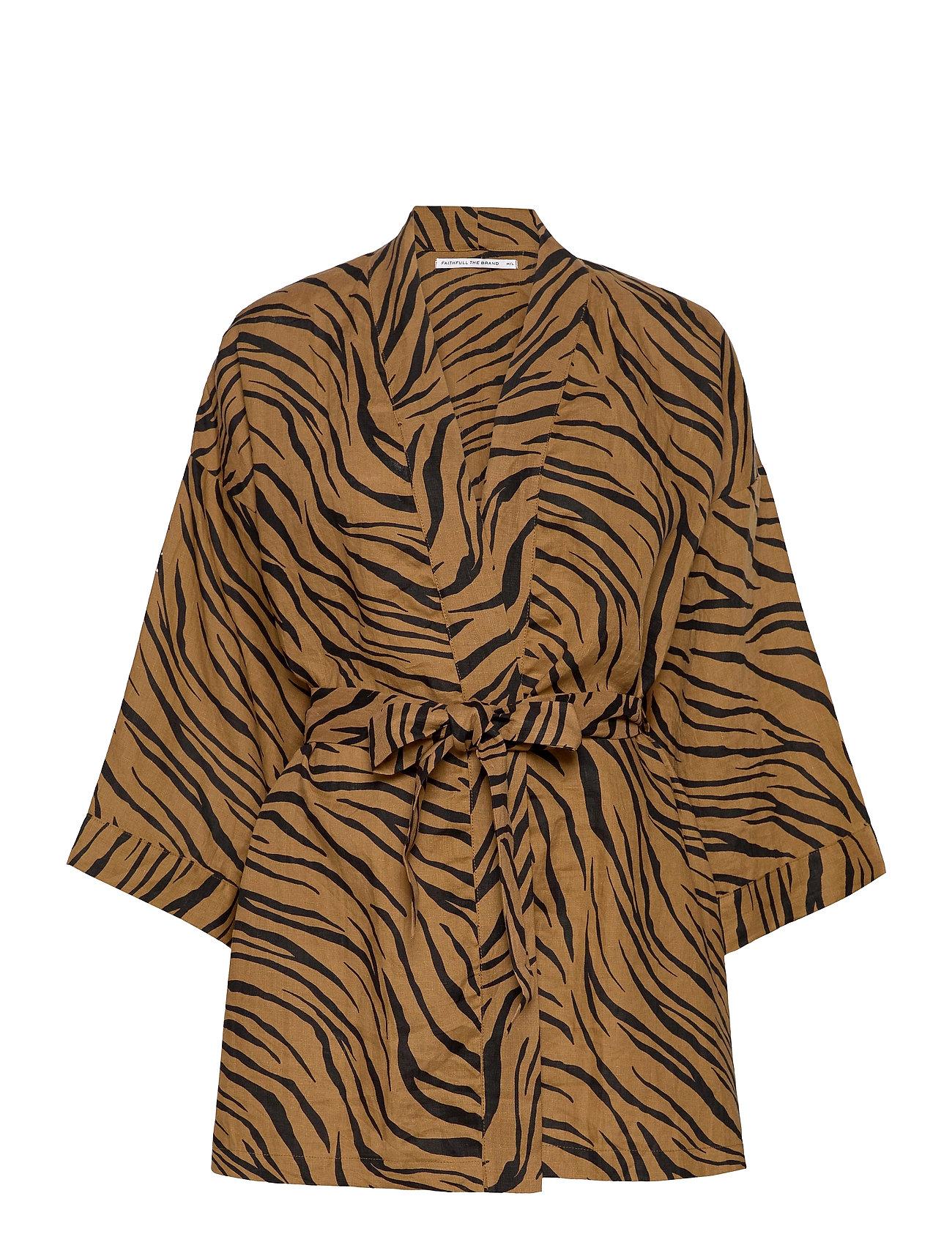 Larissa Robe Kimonos Brun Faithfull The Brand