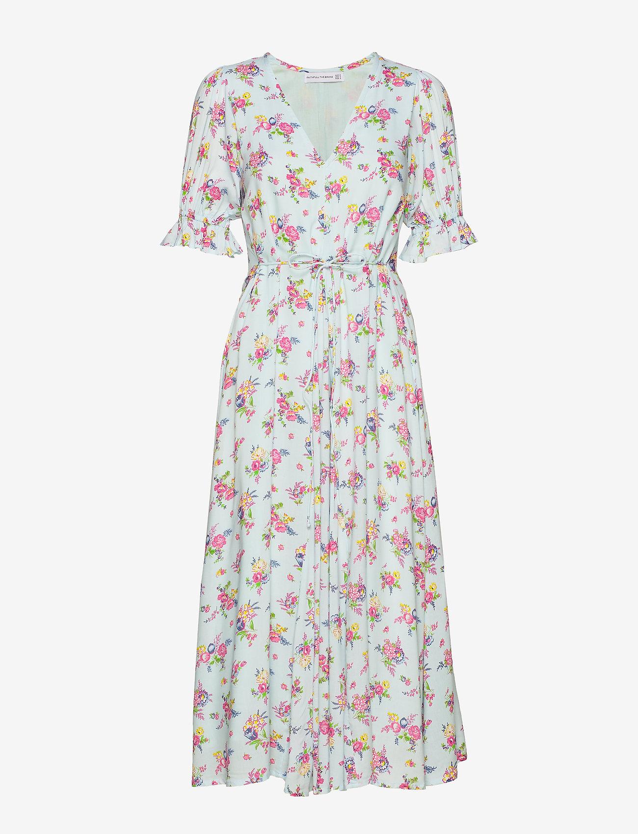Faithfull The Brand - Maggie Midi Dress - maksimekot - juliette floral blue