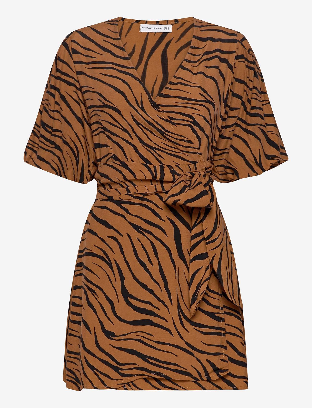 Faithfull The Brand - Marissa Wrap Dress - robes d'été - kenya animal print - 0