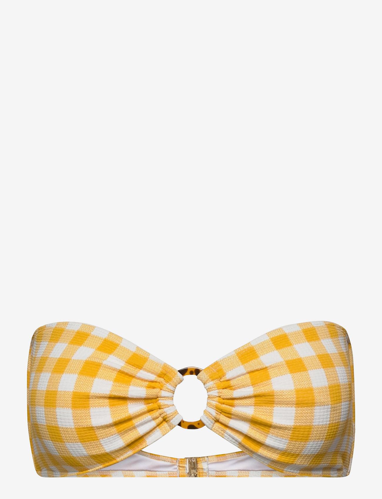Faithfull The Brand - Malady Top - hauts de maillot bandeau - gingham - marigold - 0