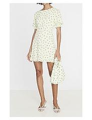 Faithfull The Brand - Florence Mini Dress - lyhyet mekot - luda floral lime - 2