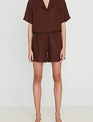 Faithfull The Brand - Chaumont Shirt - overhemden met korte mouwen - plain almond - 0