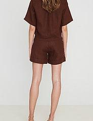 Faithfull The Brand - Chaumont Shirt - overhemden met korte mouwen - plain almond - 3
