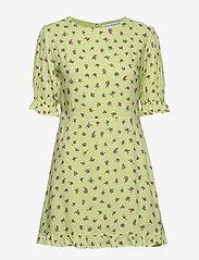 Faithfull The Brand - Florence Mini Dress - lyhyet mekot - luda floral lime - 0