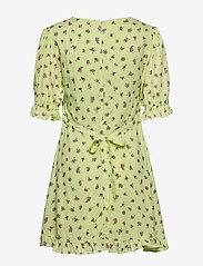 Faithfull The Brand - Florence Mini Dress - lyhyet mekot - luda floral lime - 1