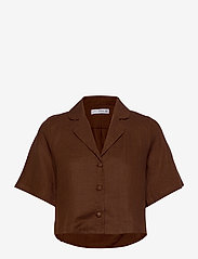 Faithfull The Brand - Chaumont Shirt - overhemden met korte mouwen - plain almond - 1