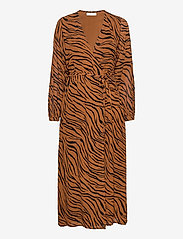 Faithfull The Brand - Florian Wrap Dress - robes portefeuille - kenya animal print - 0