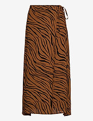 Faithfull The Brand - Janine Skirt - jupes midi - kenya animal print - 0