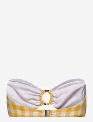 Faithfull The Brand - Malady Top - hauts de maillot bandeau - gingham - marigold - 1