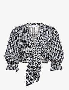 Jacinta Top - navel shirts - emelinah check print