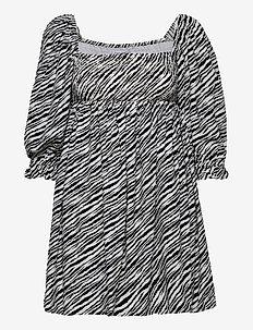 Alina Dress - blance animal print