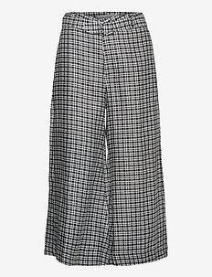 Lissandra Wide Leg Pants - pantalons larges - emelinah check print
