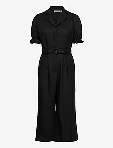Fara Boilersiut - jumpsuits - plain black