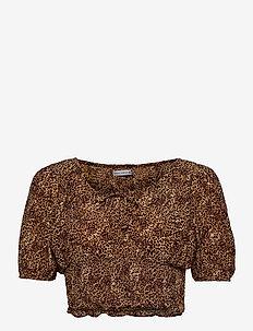 Anne Laure Top - crop tops - charlie leopard print