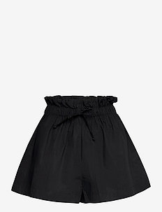 Shelby Short - paper bag shorts - plain black