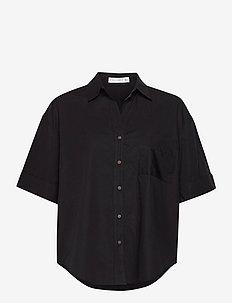 Marquis Shirt - short-sleeved shirts - plain black