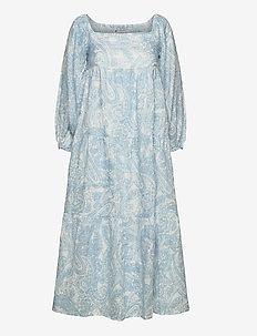 ALISON MIDI DRESS - maxi dresses - faye paisley print - powder blue