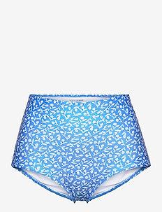 Marina Bottoms - bikini z wysoką talią - maddy floral print - vintage blue