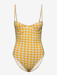 BEA ONE PIECE - badeanzüge - gingham - marigold