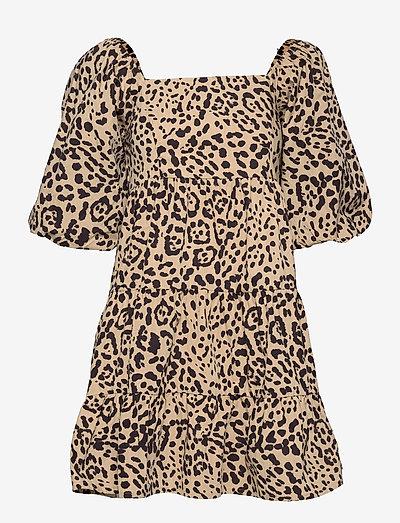 Eryn mini Dress - sommerkjoler - shamari animal print