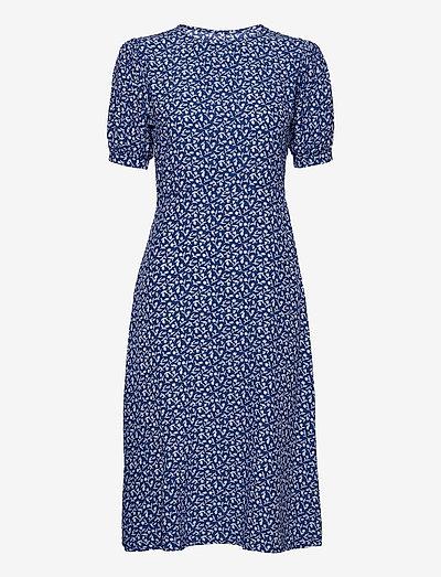 SAMIRAH MIDI DRESS - sommerkjoler - maddy floral print - vintage blue