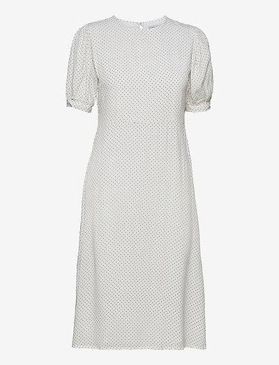 SAMIRAH MIDI DRESS - sommerkjoler - sofie dot print - white/black