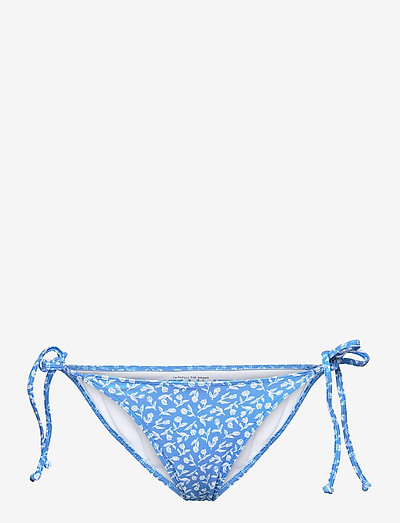 VALENSOLE BOTTOMS - side tie bikinier - maddy floral print - vintage blue