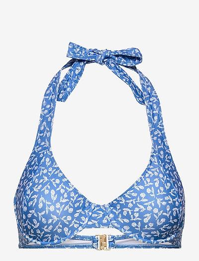 LE VOILIER TOP - push-up bikini - maddy floral print - vintage blue