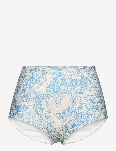 Marina Bottoms - bikinibroekjes - faye paisley print - powder blue
