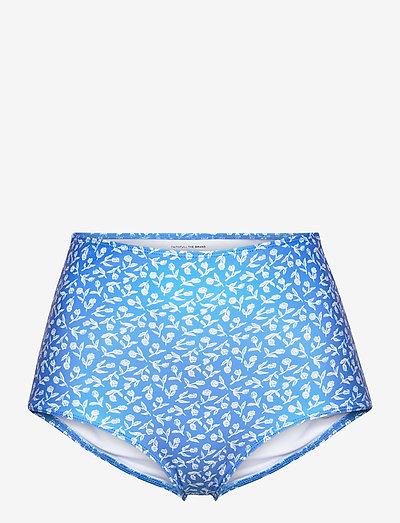 Marina Bottoms - højtaljede bikiniunderdele - maddy floral print - vintage blue