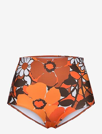 Marina Bottoms - højtaljede bikiniunderdele - isola floral print