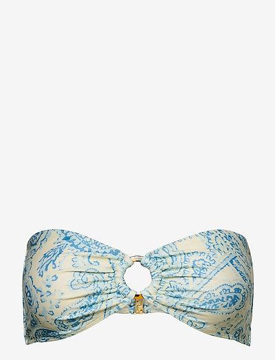 Malady Top - bandeau-bikini - faye paisley print - powder blue