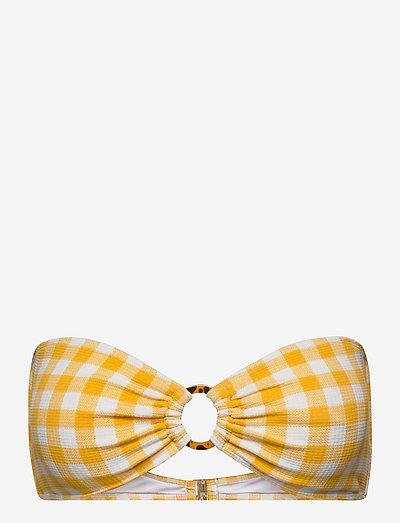 Malady Top - bikinitops - gingham - marigold