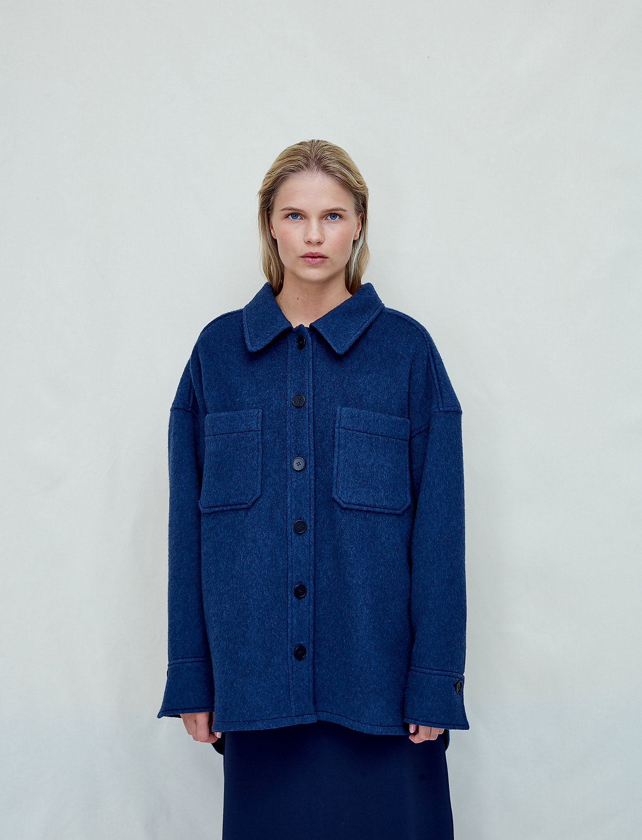 Fall Winter Spring Summer - Sealiner Wool - overshirts - blue nights - 0