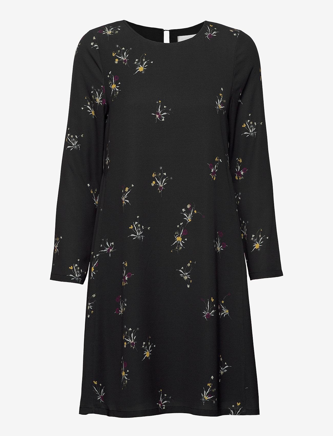 Fall Winter Spring Summer - Torn - midiklänningar - ikebana flower mini black - 0