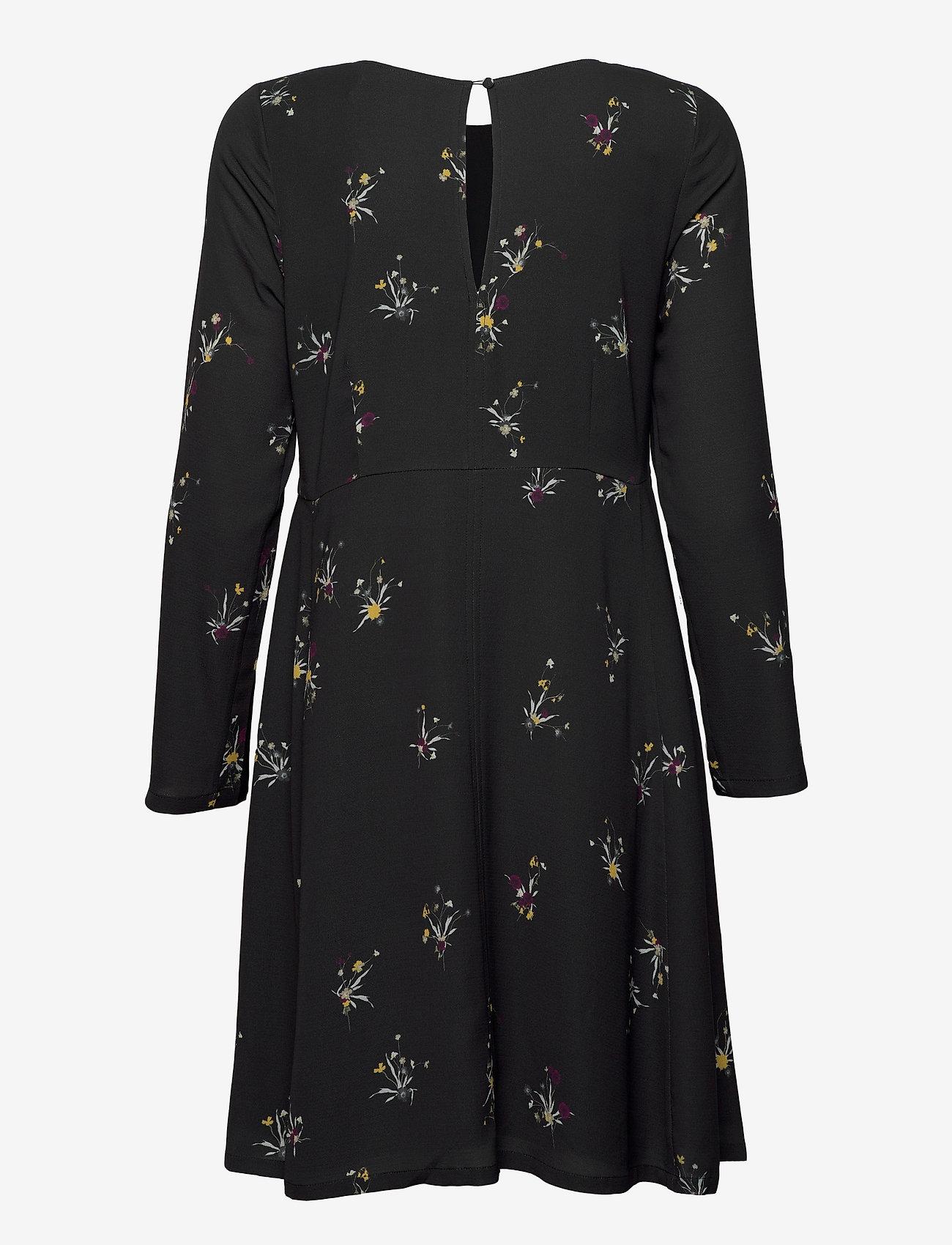 Fall Winter Spring Summer - Torn - midiklänningar - ikebana flower mini black - 1